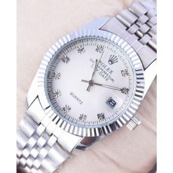 Rolex Oyster Date Silver Watch