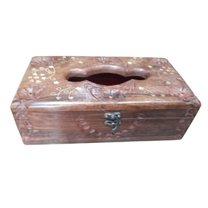 Beautiful Wooden Tissue Box 11x6