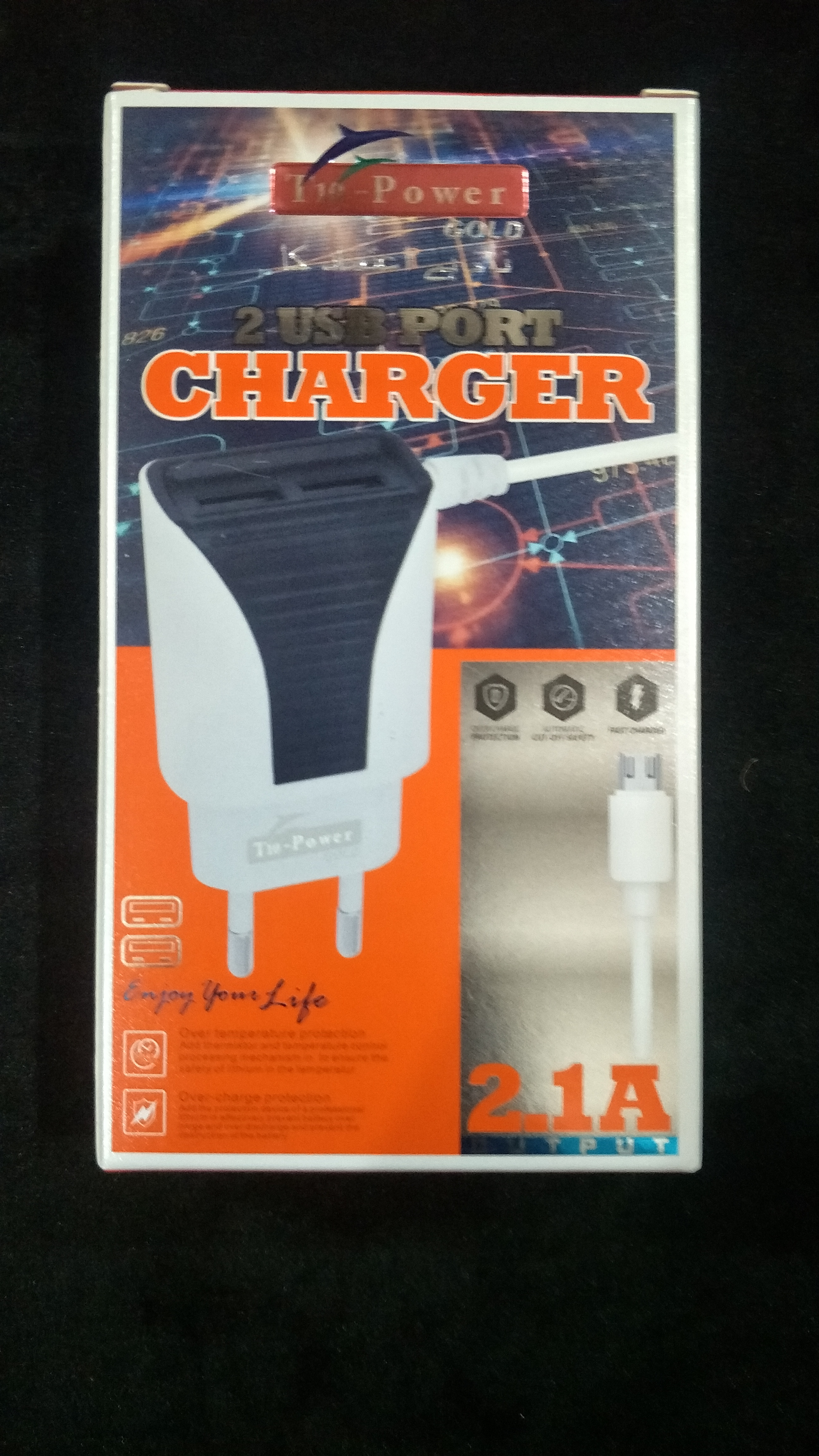 T-10 Imported 2 USB Fast Charger 2.1 Ampere