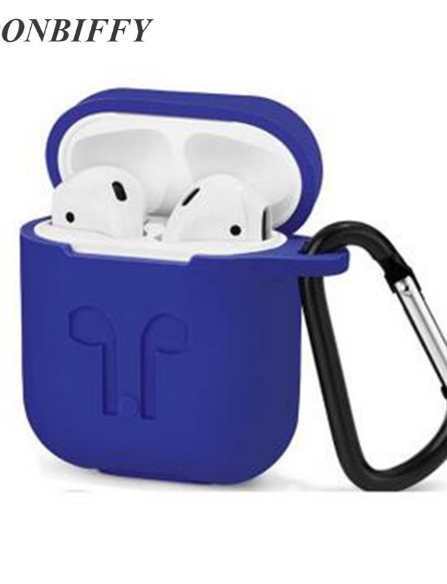 Dust & Shock Proof Soft Silicon Protector Cover Case for Airpod (Blue Color)