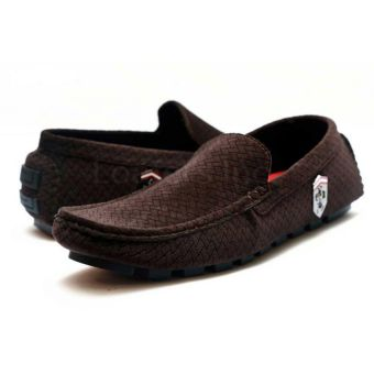 Ferrari Brown Stylish Shoes For Him