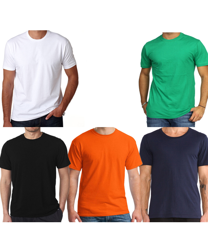 Pack of 5 Round Neck T-Shirts