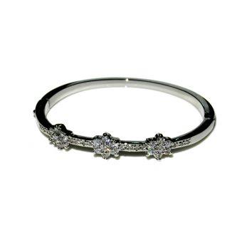 Women's Silver Zircon Bracelet