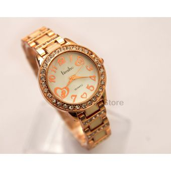 Ladies Quartz TIMIHO Golden White
