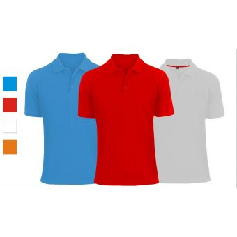 Pack of 3 Plain Polo Shirts for Men