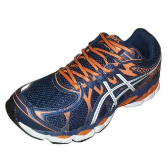 Asics Navy Blue & Orange Jogger for Men