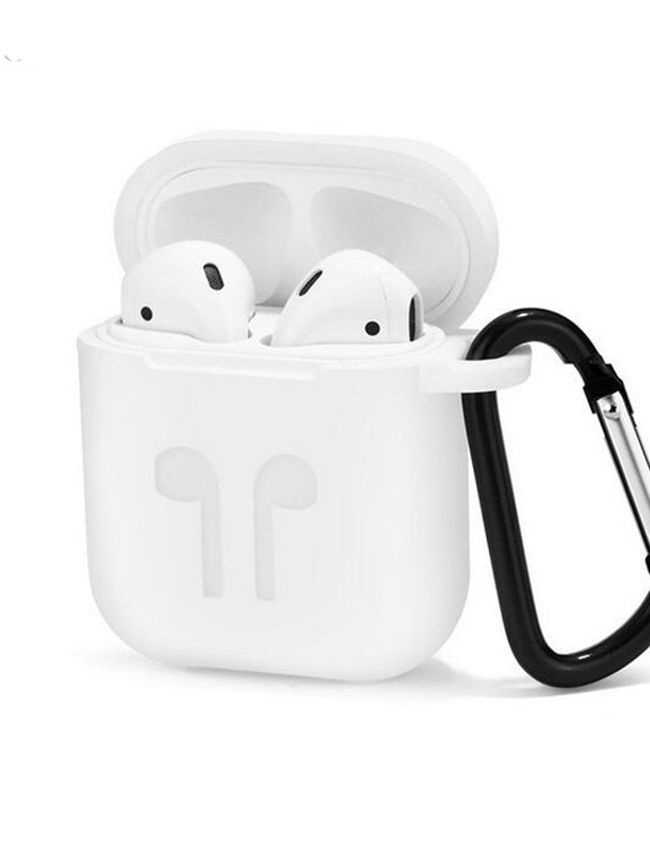 Dust & Shock proof Soft Silicon Proctector Cover Case for Airpod (White Color)