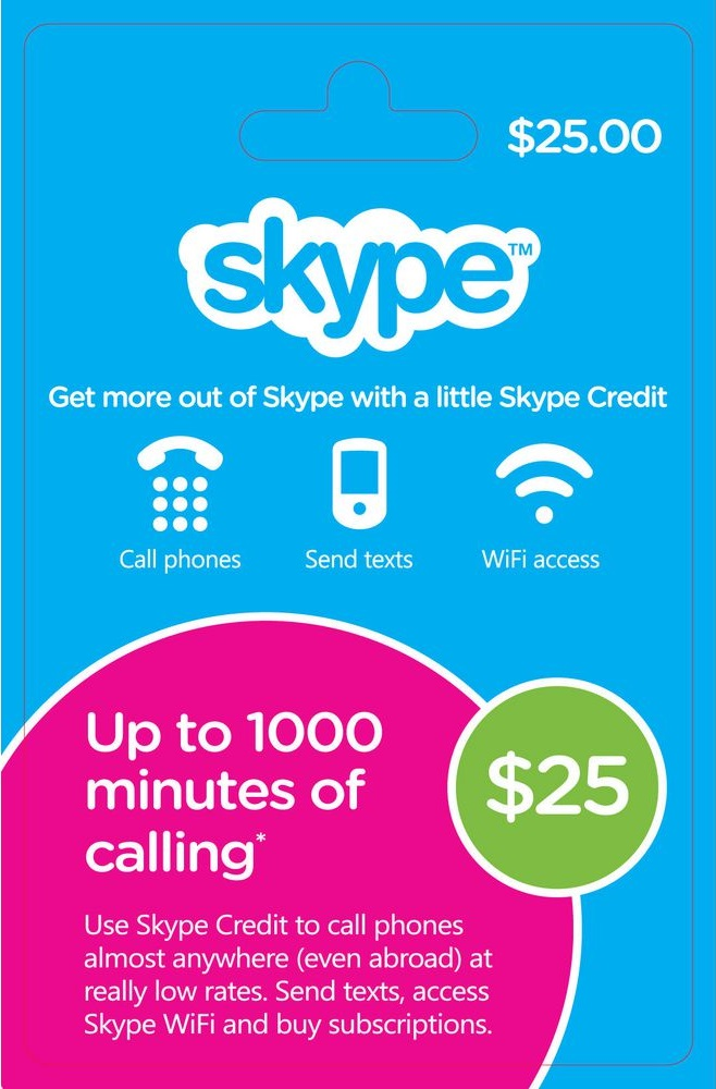 $25 Skype Gift Card - US Region