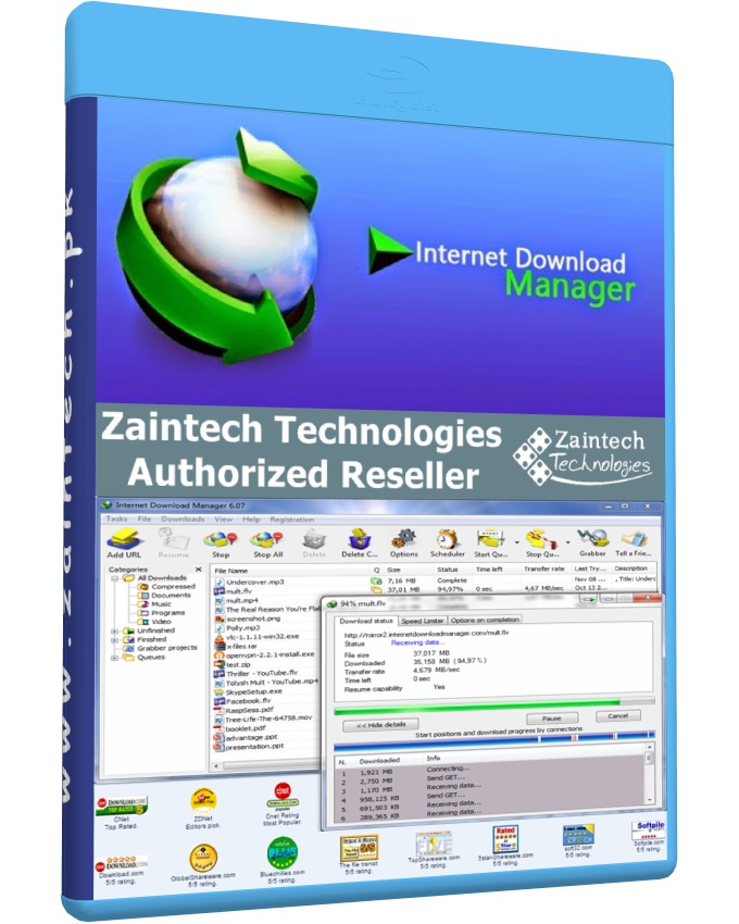 Internet Download Manager - 1 Year License (Email Delivery)