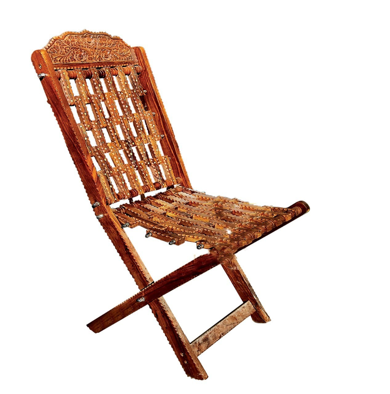 Wooden Chair With Iron