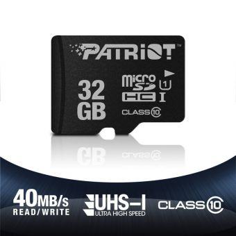 Patriot 32GB MicroSD Card w/Adapter Class 10 LX Series
