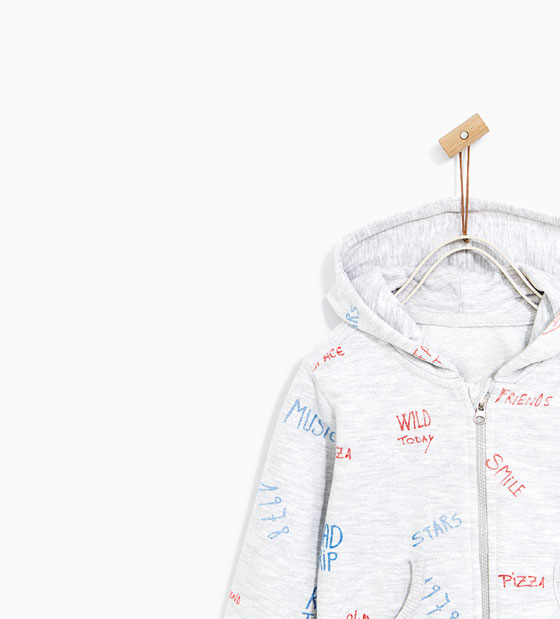 Hoodie Zipper for Kids with Text Printing_2