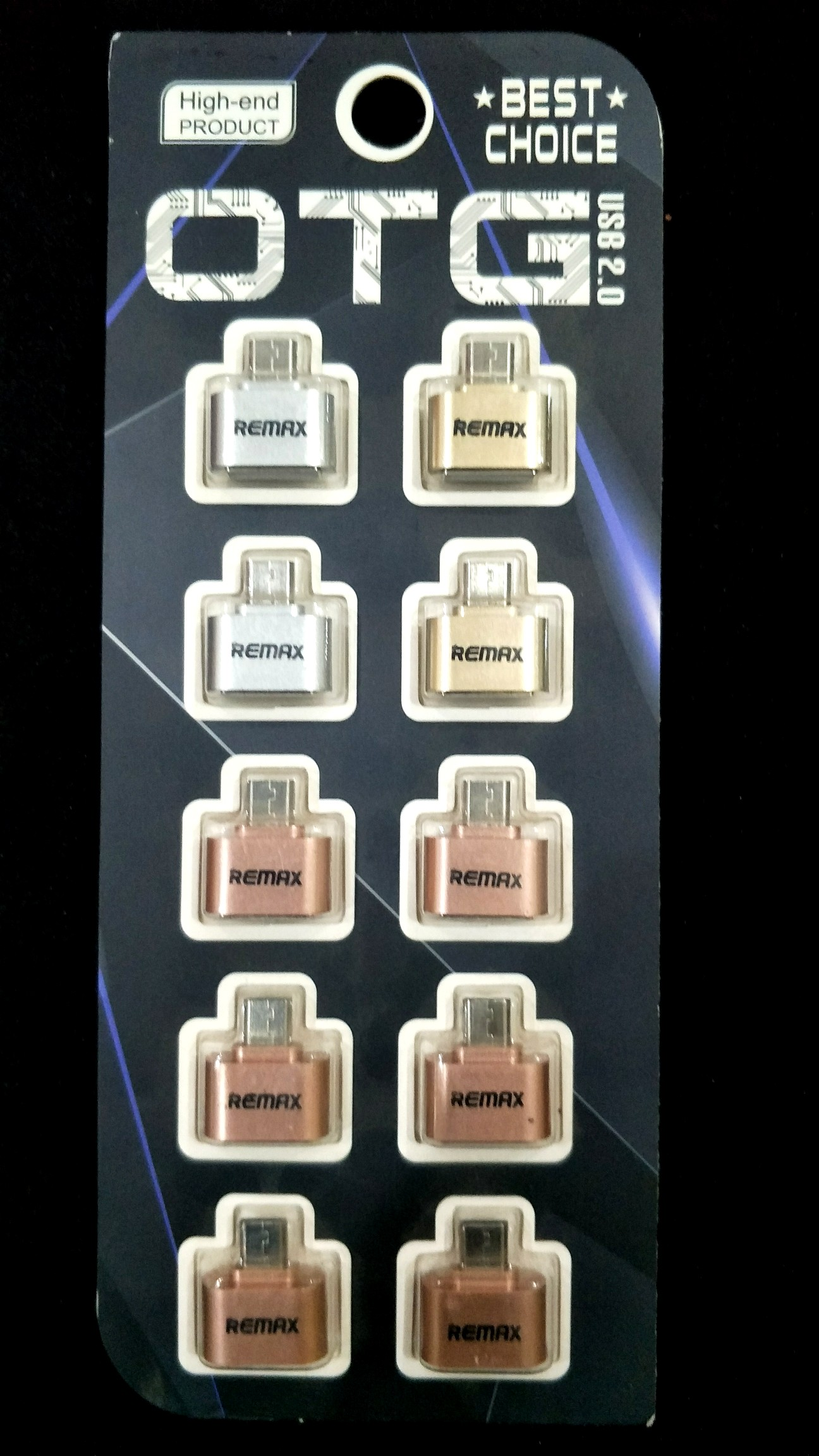 Remax OTG Connector Adapter 10 Piece (Siver & Gold & Rose Gold)_1