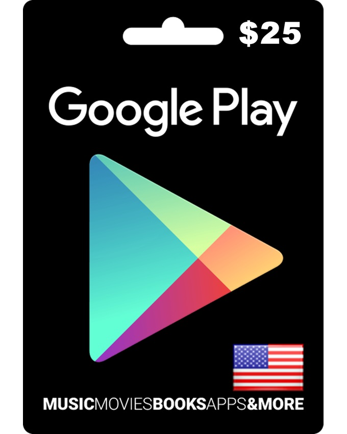 $25 Google Play Gift Card - US Region (Email Delivery)