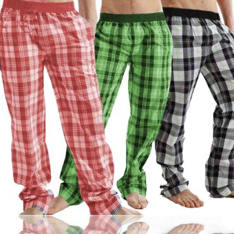 Pack of 3 Checkered Trousers
