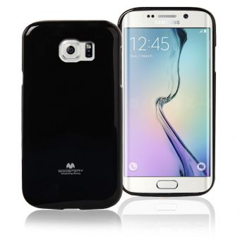 Samsung Galaxy S6 Edge - Goospery Pearl Jelly Case - Black