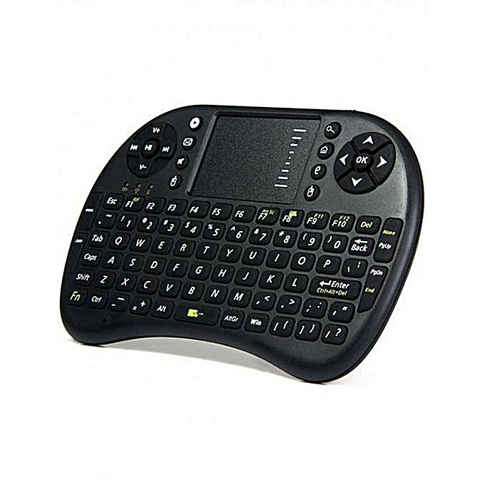 Mini Wireless Keyboard With Touchpad Mouse Rf500-Black