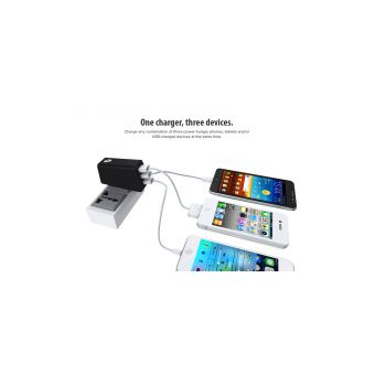 3 Port Wall Charger - 5V/2A USB Mobile/Tablet Charging Adapter_2