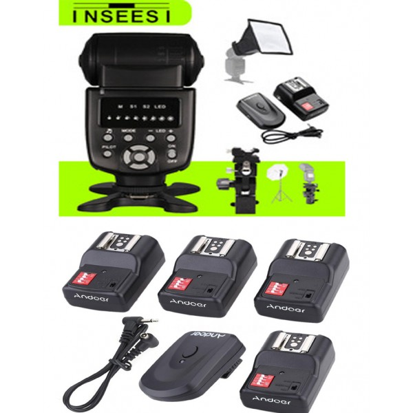 4 Channels Wireless Remote Control Speedlite Lamp