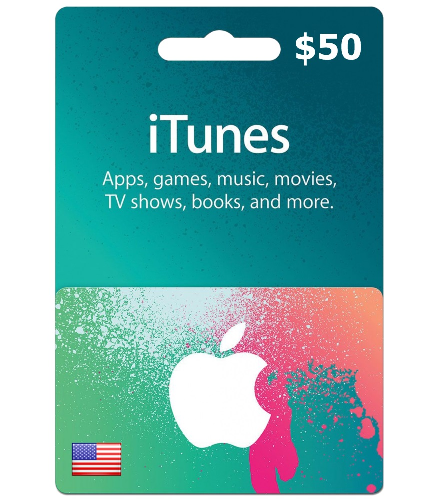 $50 iTunes Gift Card - US Region (Email Delivery)