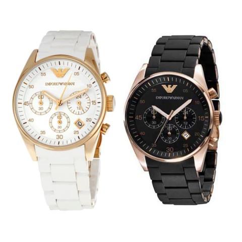 Emporio Armani White Platinum Watch