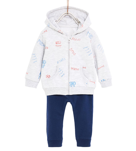 Hoodie Zipper for Kids with Text Printing_3