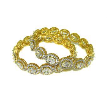 Women's Zircon Studded Bracelets - Pack of 2