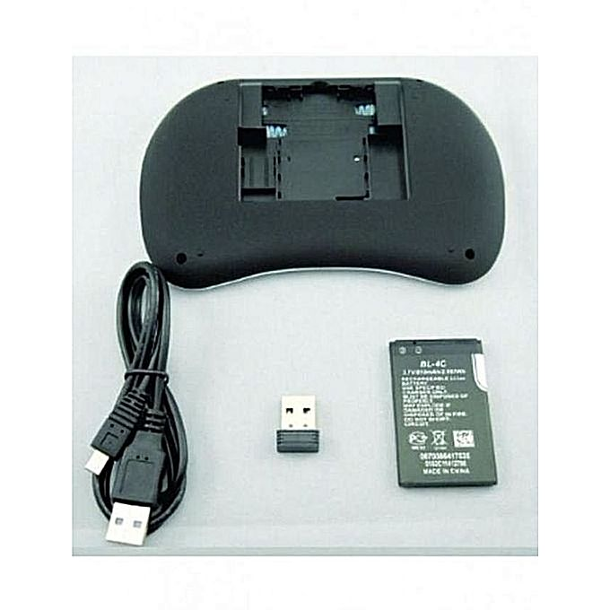 Mini Wireless Keyboard With Touchpad Mouse Rf500-Black_2