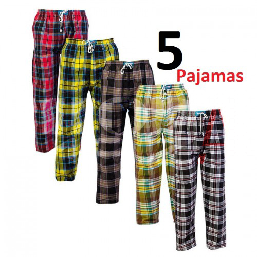 5 Checkered Cotton Pajamas Deal