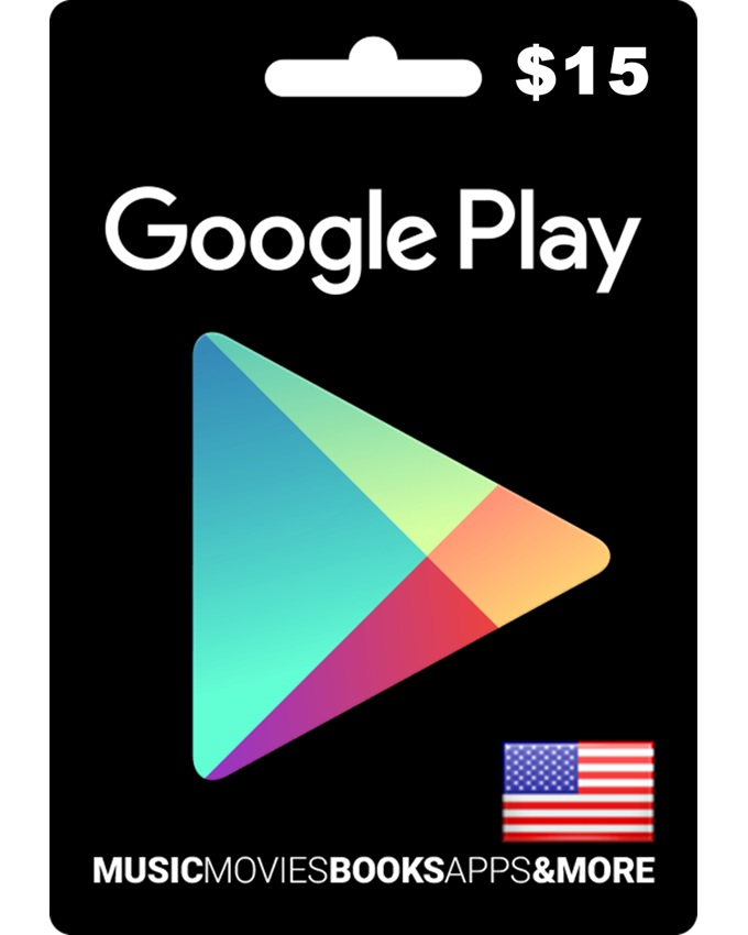 $15 Google Play Gift Card - US Region (Email Delivery)