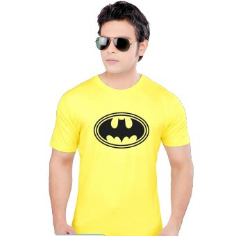 Yellow Batman Printed T-Shirt for Men