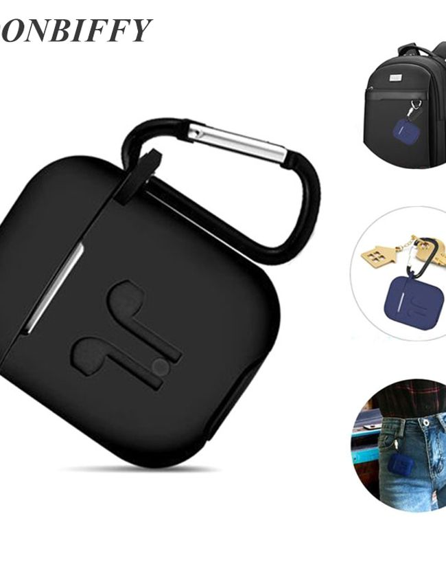 Dust & Shock proof Soft Silicon Protector Cover Case for Airpod (Black Color)_1