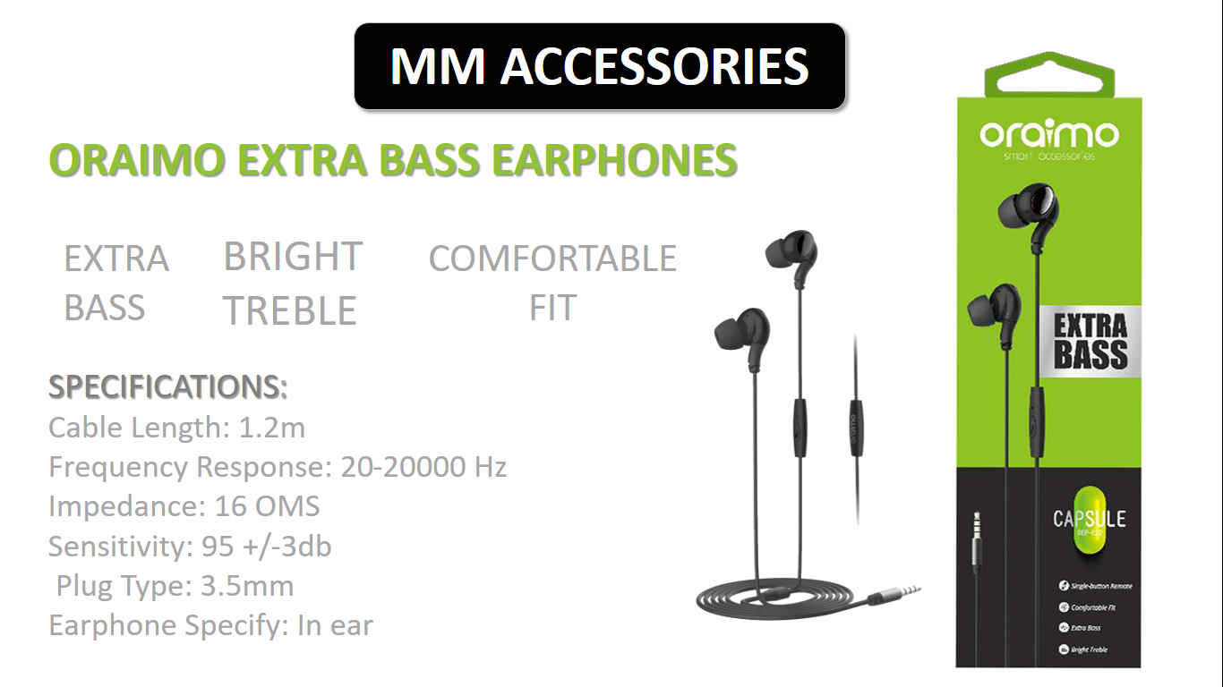 Original Extra Bass Capsule Earphones with product authentication code