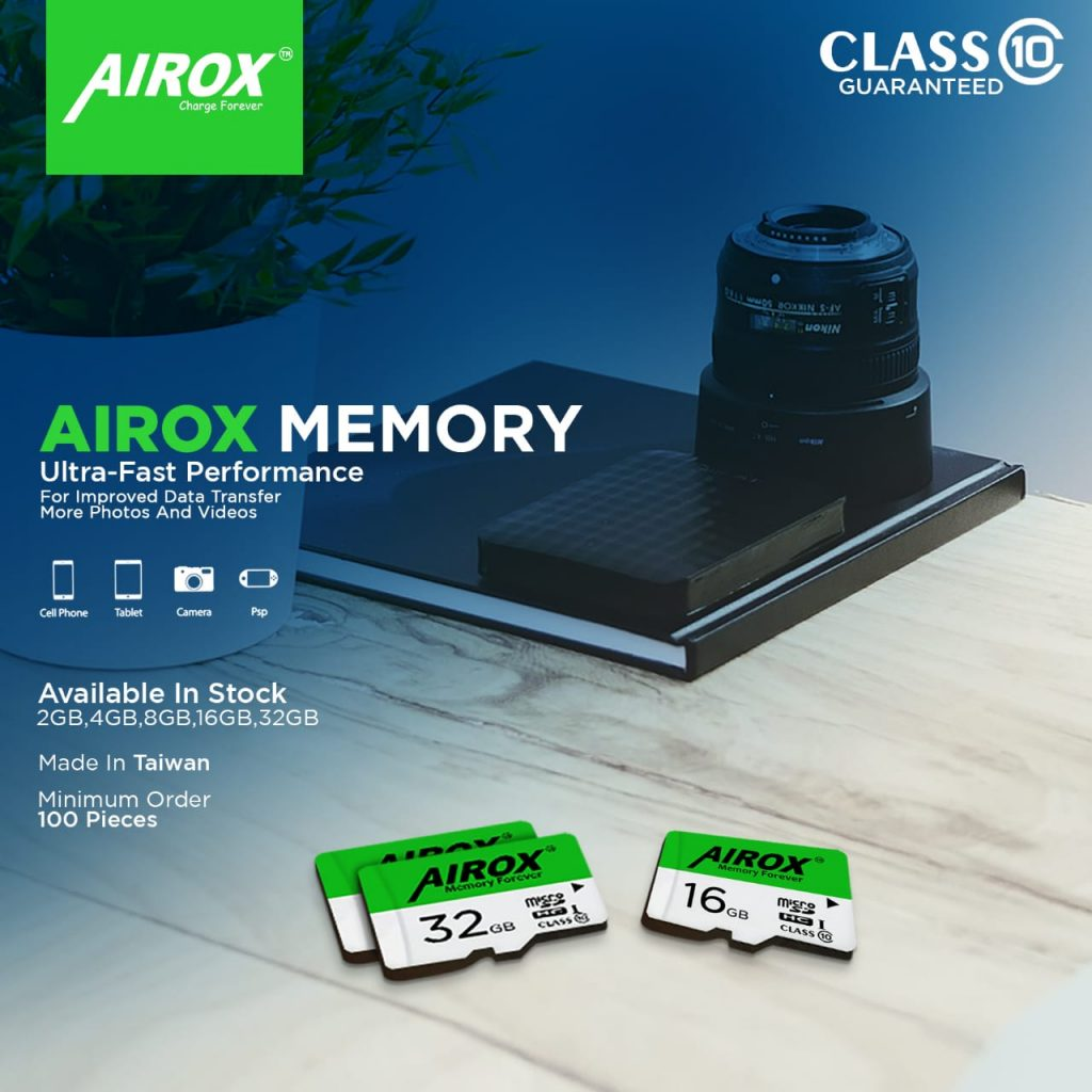 Airox 64GB High Speed Micro SD Memory Card Class 10