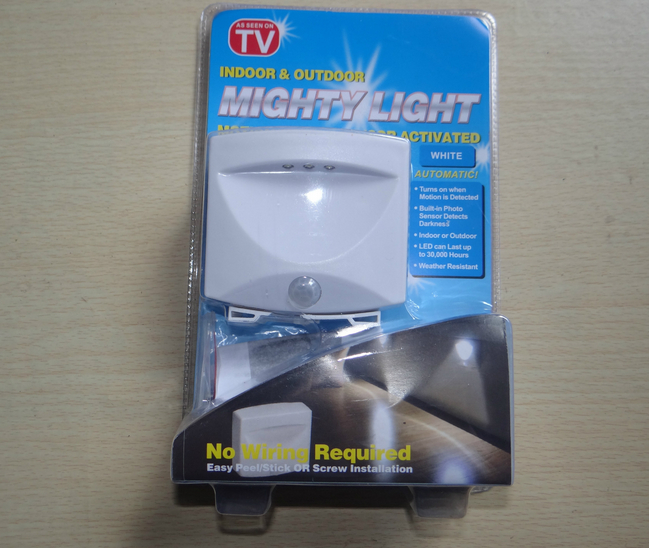 LED lamp with motion sensor and light Mighty Light