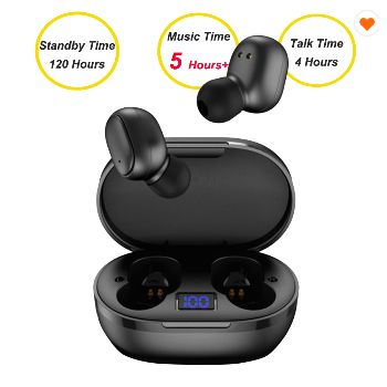 Wireless Stereo Mini In Ear Buds Magnetic Noise Canceling Hifi Sport Bluetooth Earphone