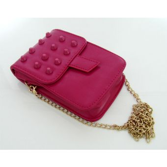 Long Chain Pink Pouch for Women