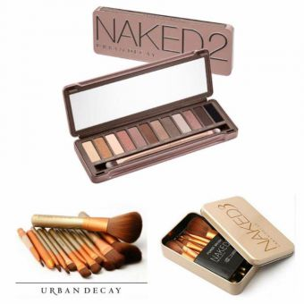 Naked 2 Palette With Naked 3 Twelve Brushes Pack