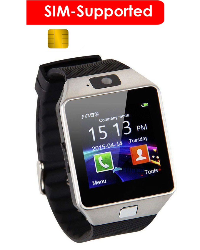 SIM Supported Smart-Watch Touchscreen Black