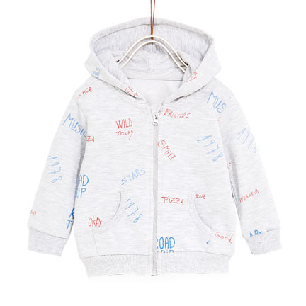 Hoodie Zipper for Kids with Text Printing