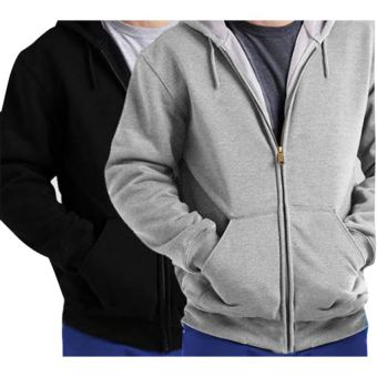 Pack of 2 Branded Fleece Zipper Hoodies