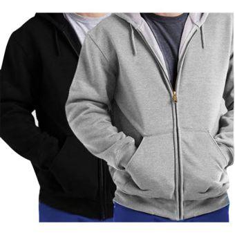 Pack of 2 Branded Fleece Zipper Hoodies