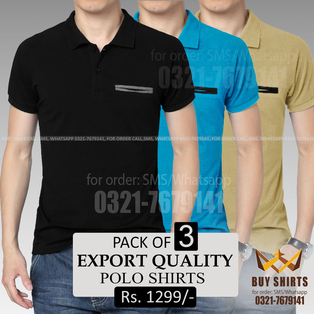 Buy Export Quality Polo Shirts Online With Free Home Delivery