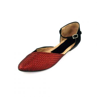 Red Women's Flat Sandal