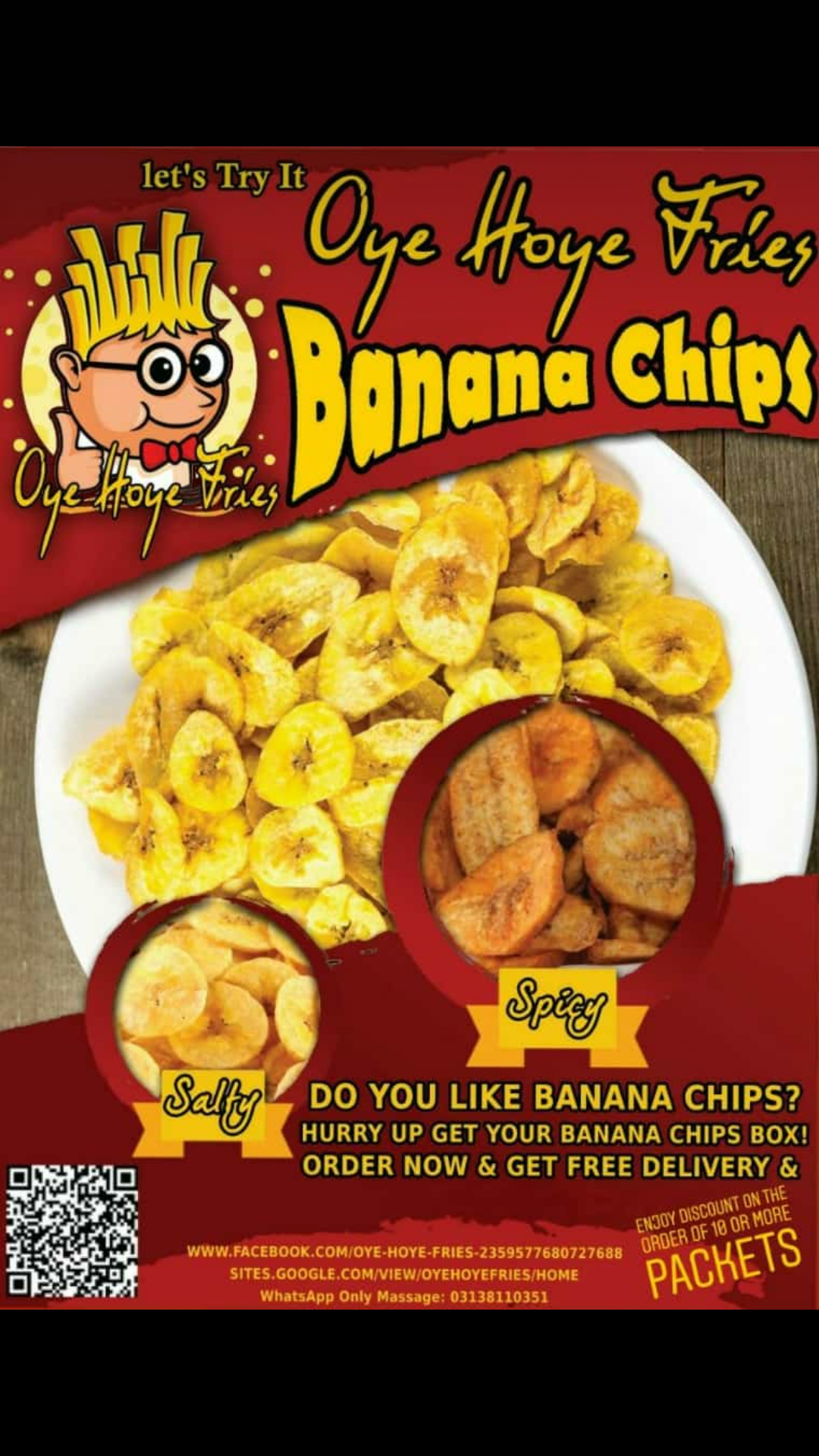 OyeHoye Fries Banana Chips 10 Packets_3