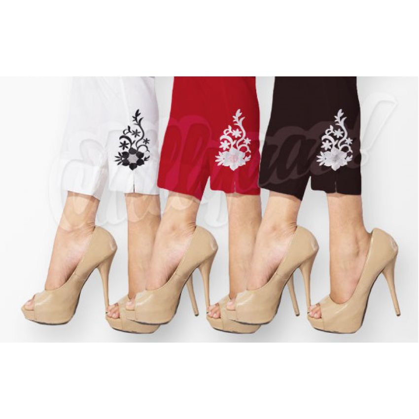 Pack Of 3 Embroidered Tights For Her
