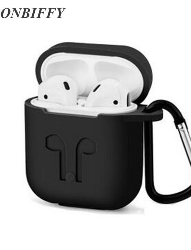 Dust & Shock proof Soft Silicon Protector Cover Case for Airpod (Black Color)