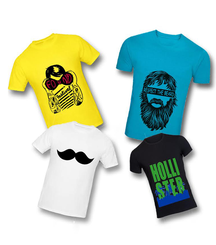 Pack of 4 Printed T-Shirt